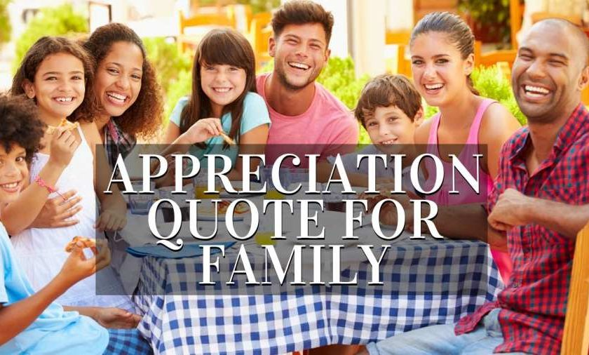 Appreciation Quote For Family